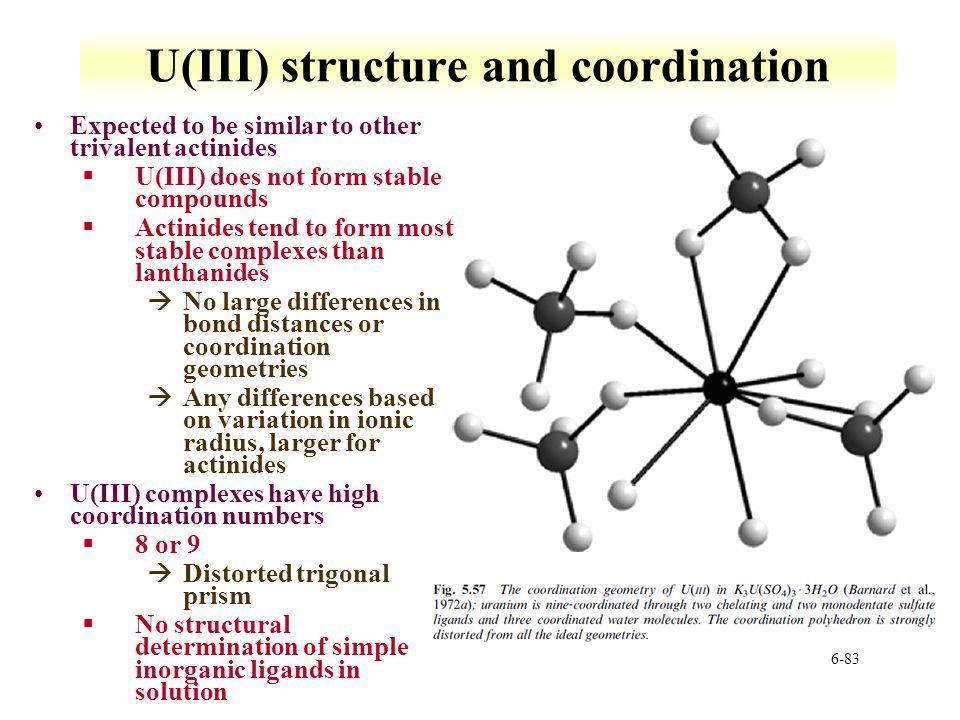 U(III) structure and coordination