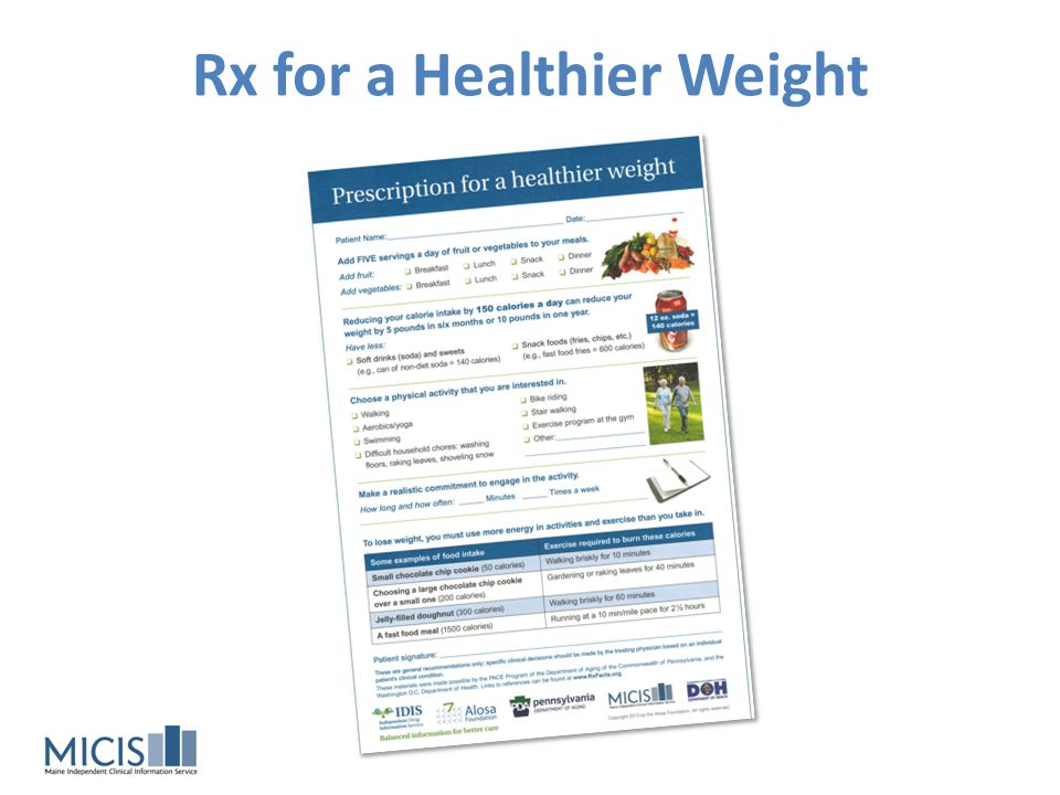 Rx for a Healthier Weight