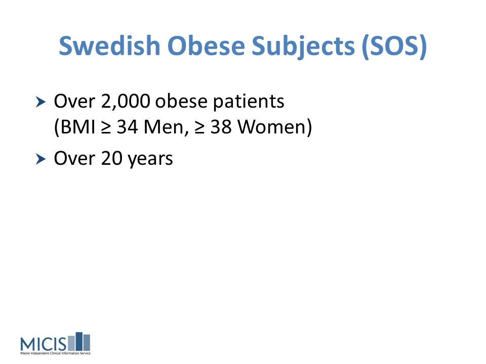 Swedish Obese Subjects (SOS)
