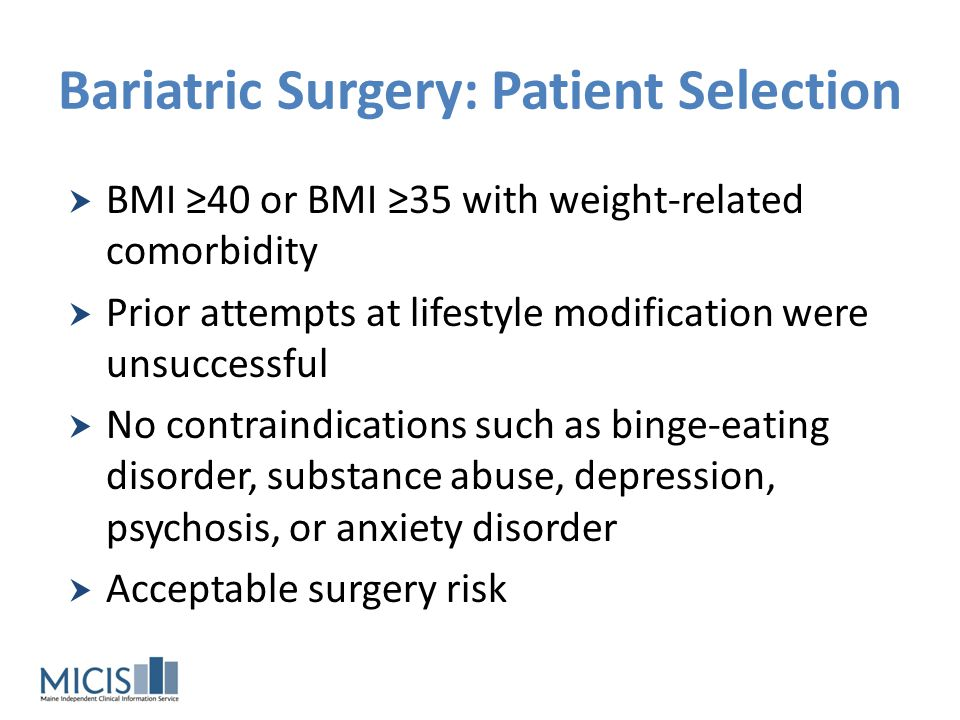 Bariatric Surgery: Patient Selection