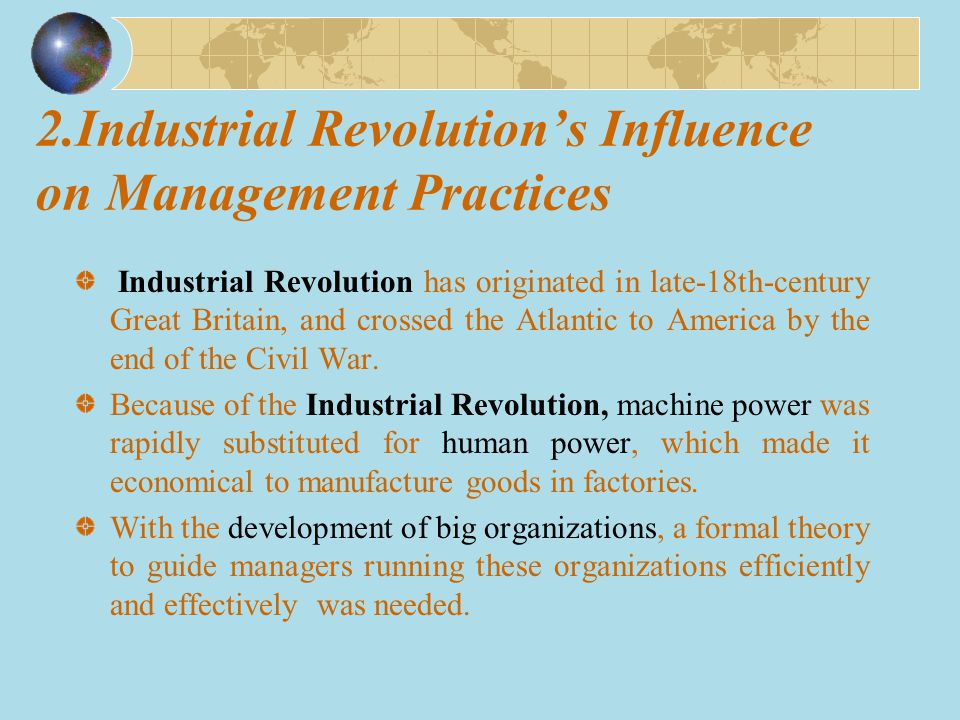 2.Industrial Revolution's Influence on Management Practices