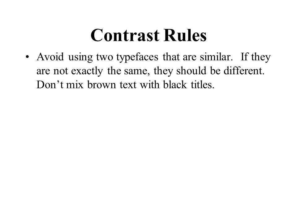 Contrast Rules