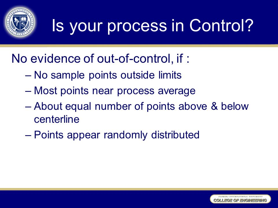 Is your process in Control