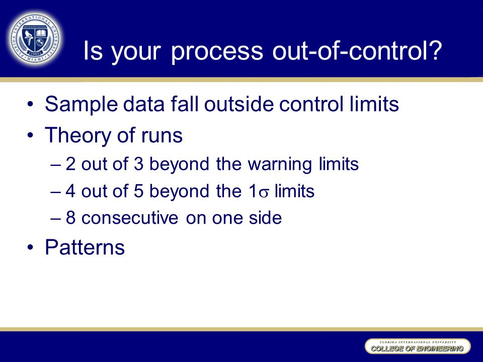 Is your process out-of-control