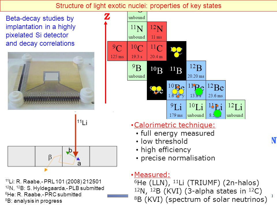 Structure of light exotic nuclei: properties of key states