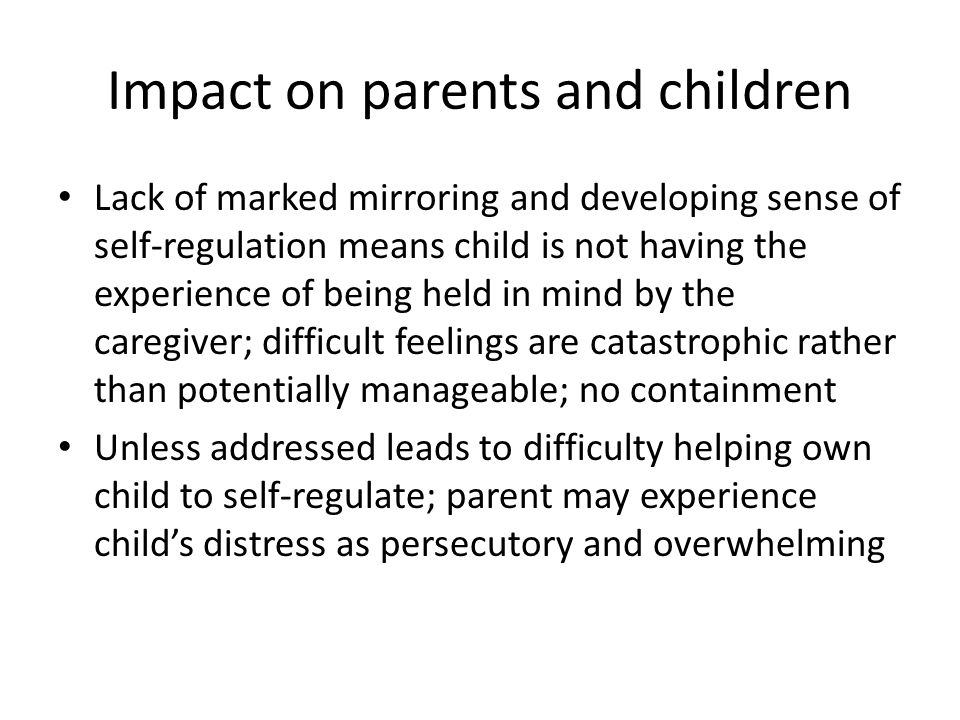 Impact on parents and children