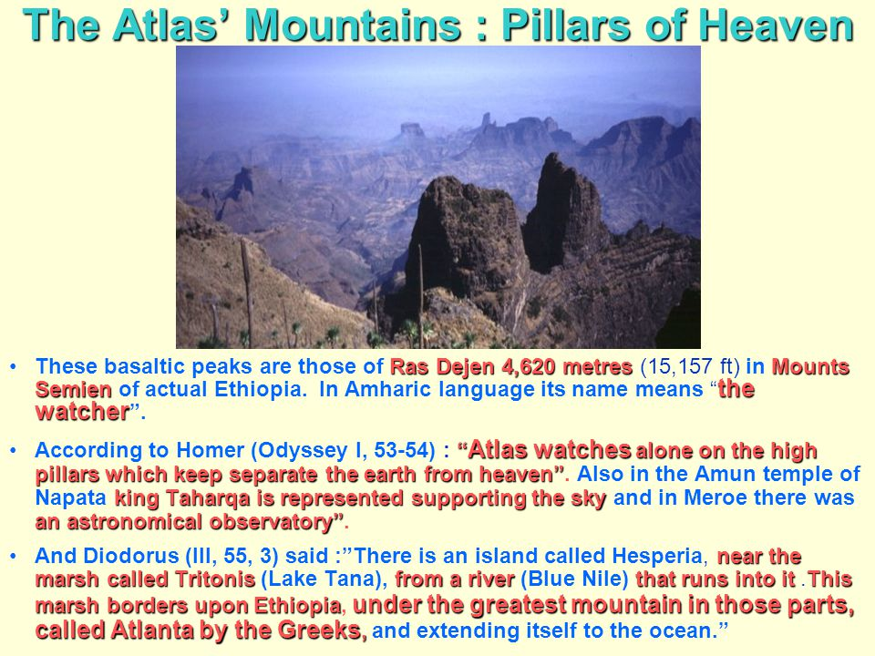 The Atlas' Mountains : Pillars of Heaven