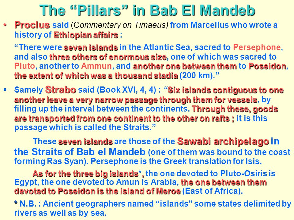 The Pillars in Bab El Mandeb