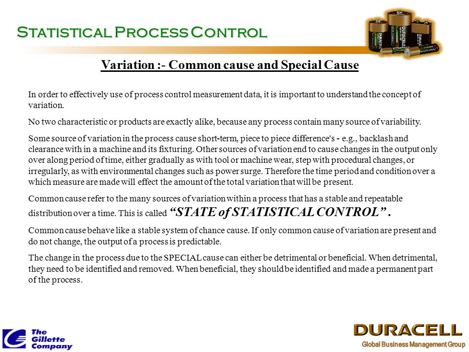 Variation :- Common cause and Special Cause
