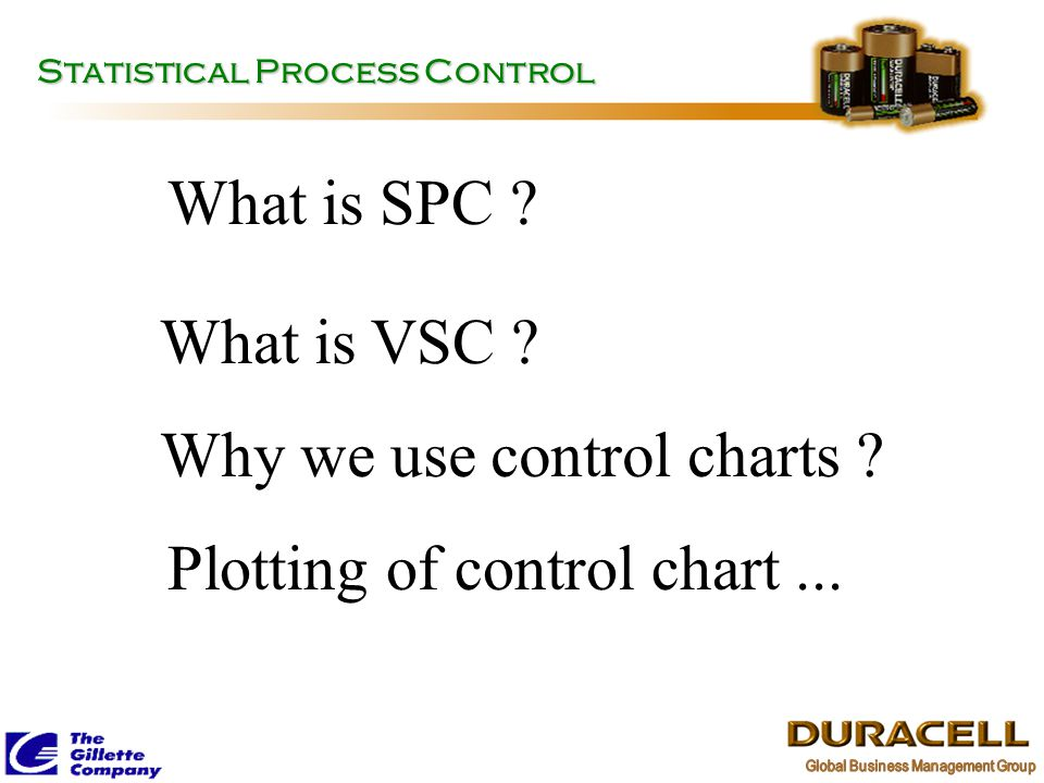 Why we use control charts