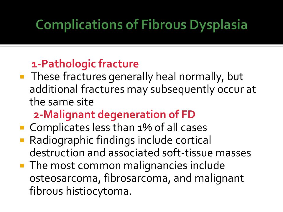 Complications of Fibrous Dysplasia