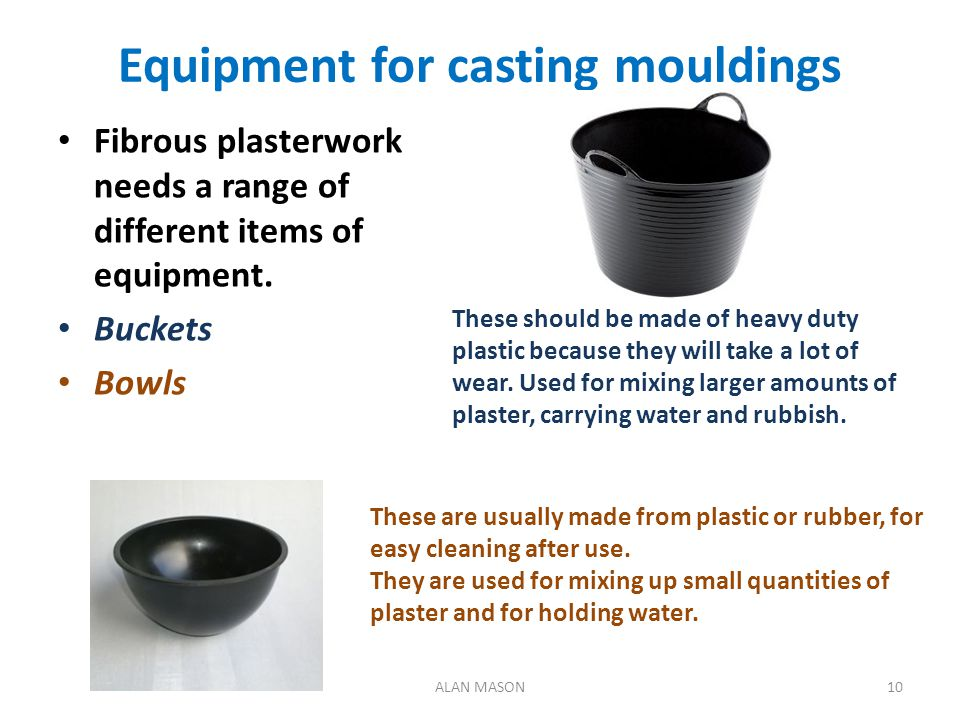 Equipment for casting mouldings
