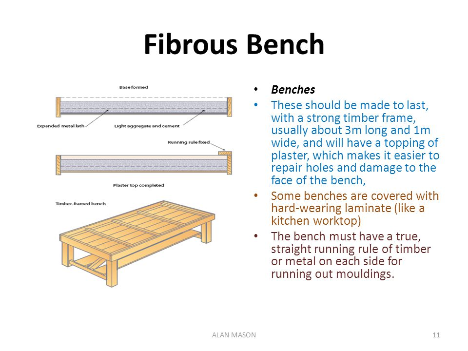Fibrous Bench Benches.