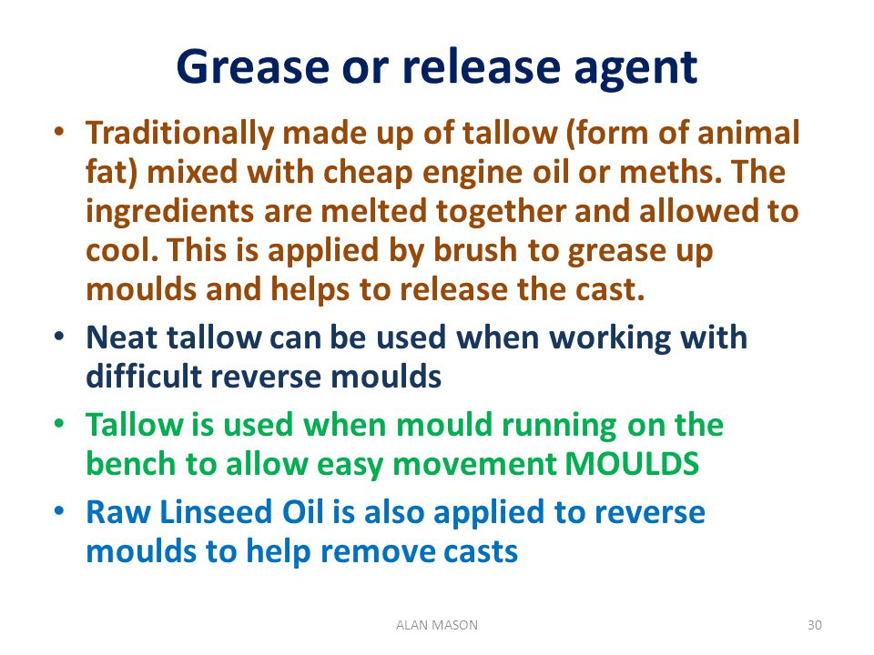 Grease or release agent