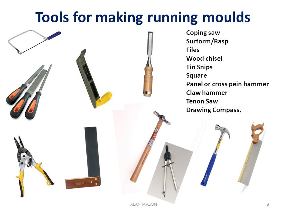 Tools for making running moulds