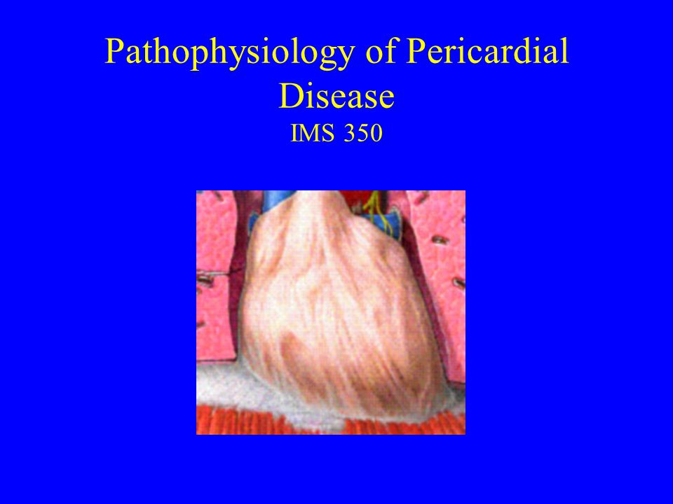 Pathophysiology of Pericardial Disease IMS 350