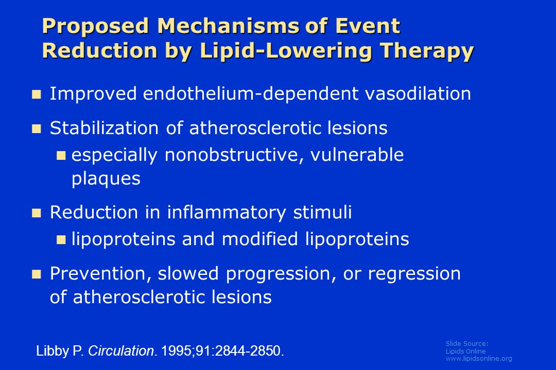 Proposed Mechanisms of Event Reduction by Lipid-Lowering Therapy