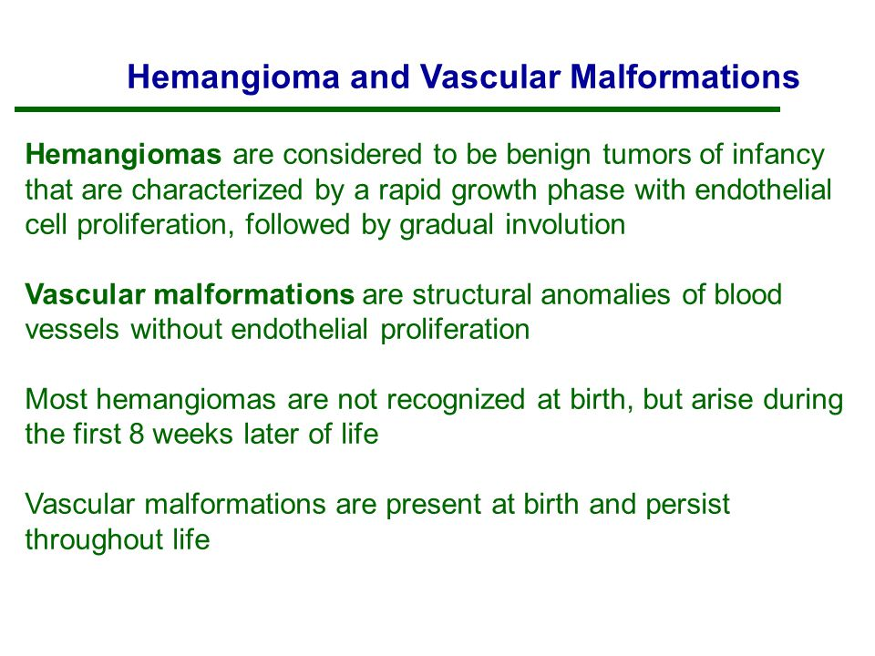 Hemangioma and Vascular Malformations