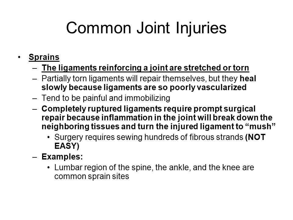 Common Joint Injuries Sprains