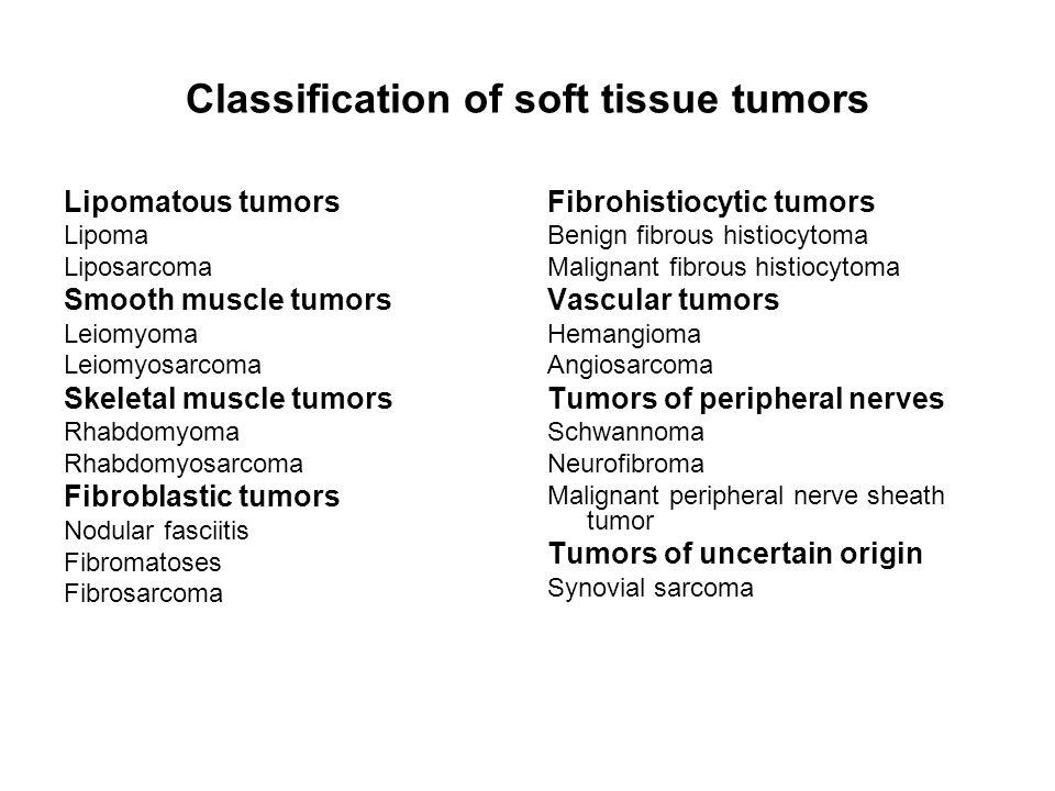 Classification of soft tissue tumors