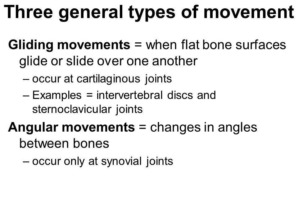 Three general types of movement