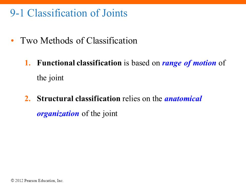 9-1 Classification of Joints