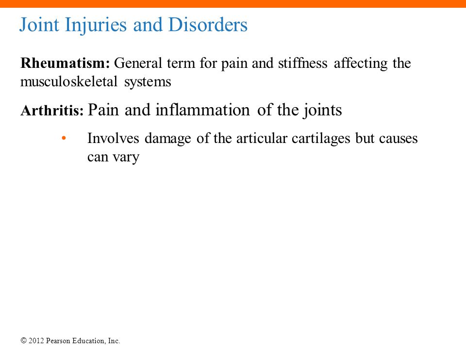 Joint Injuries and Disorders