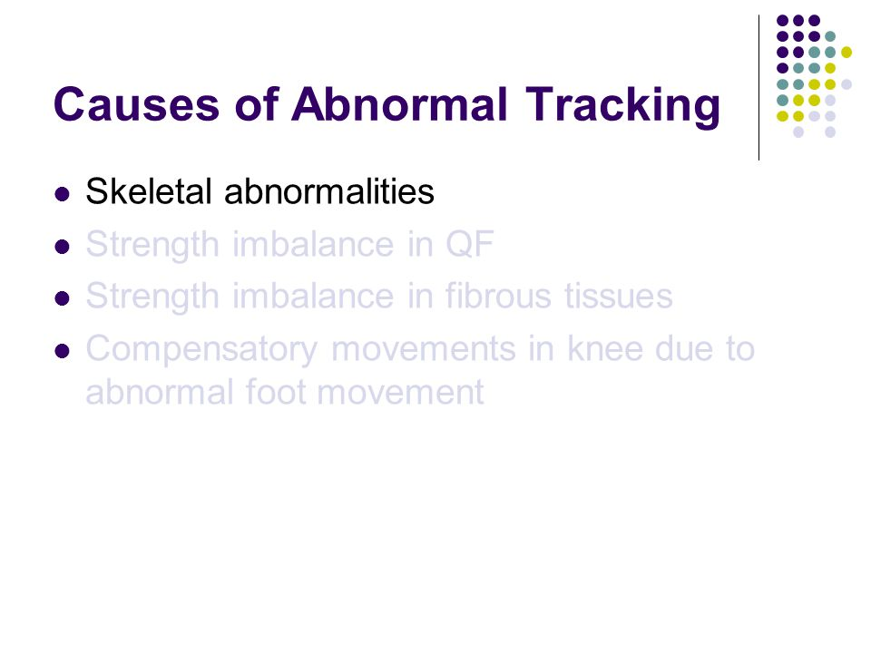 Causes of Abnormal Tracking