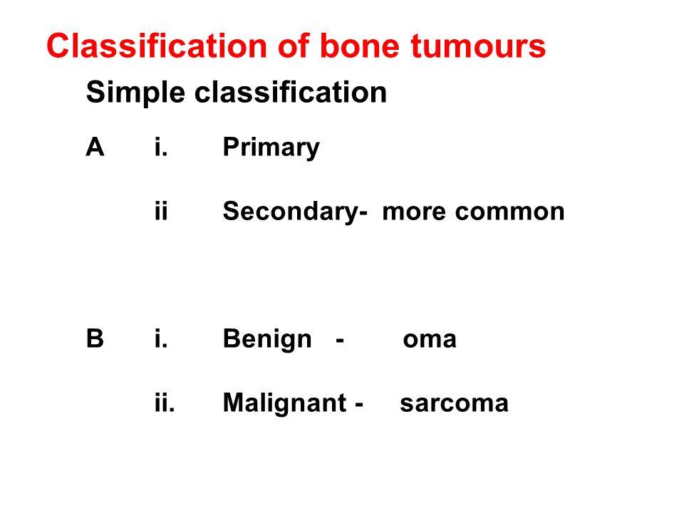 Classification of bone tumours