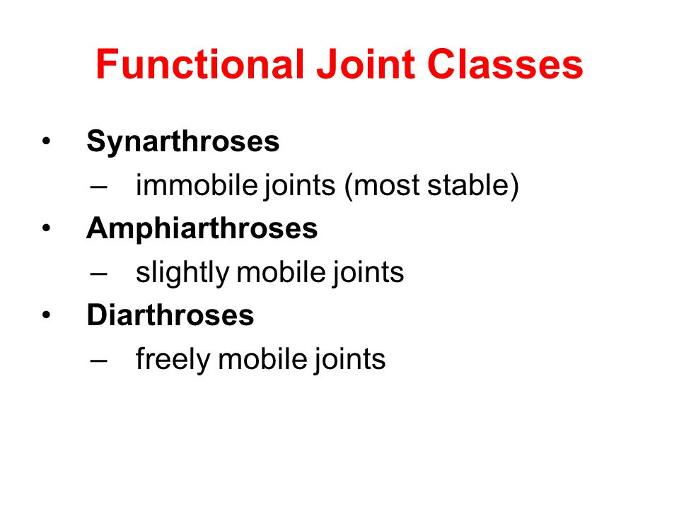 Functional Joint Classes
