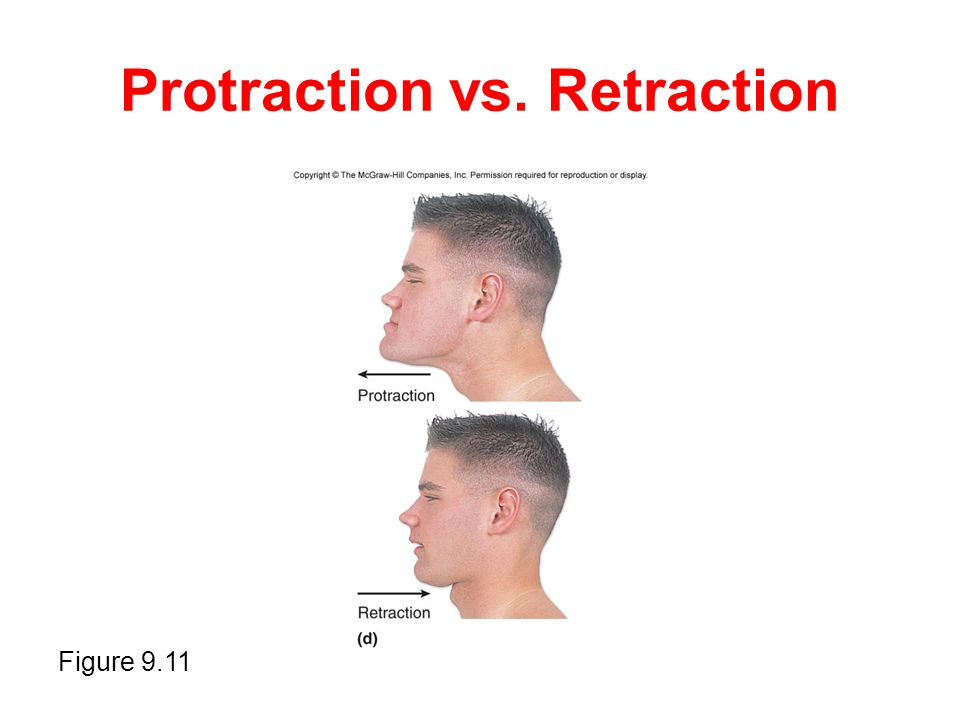 Protraction vs. Retraction