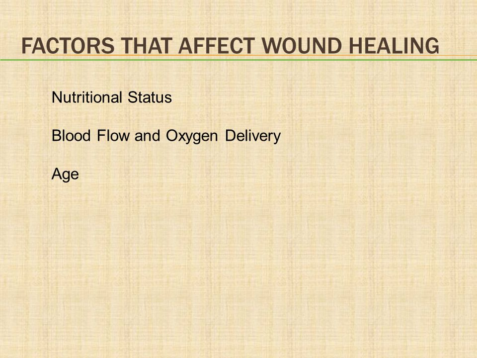Factors that Affect Wound Healing