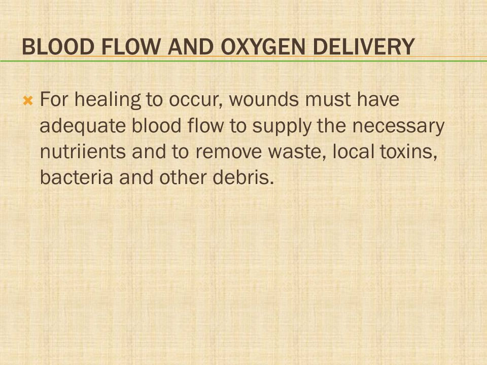 Blood Flow and Oxygen Delivery