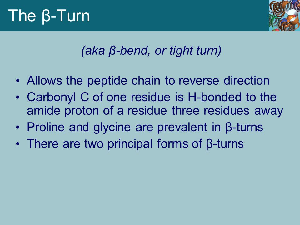(aka β-bend, or tight turn)