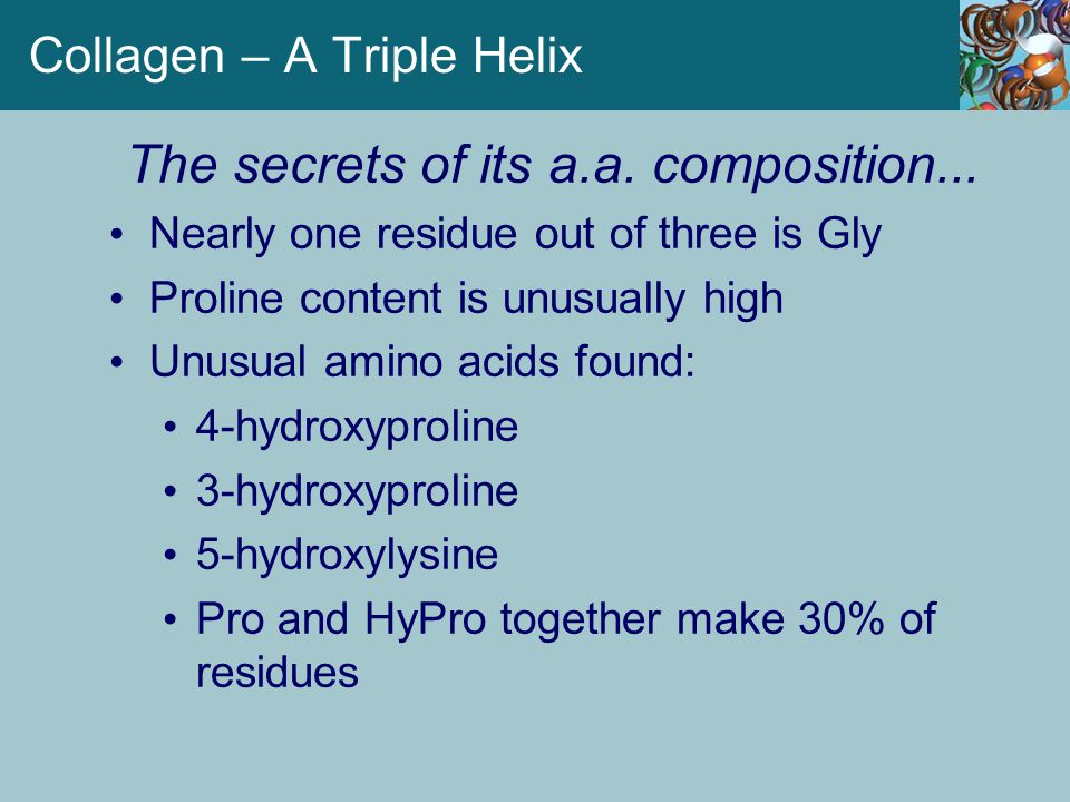 Collagen – A Triple Helix