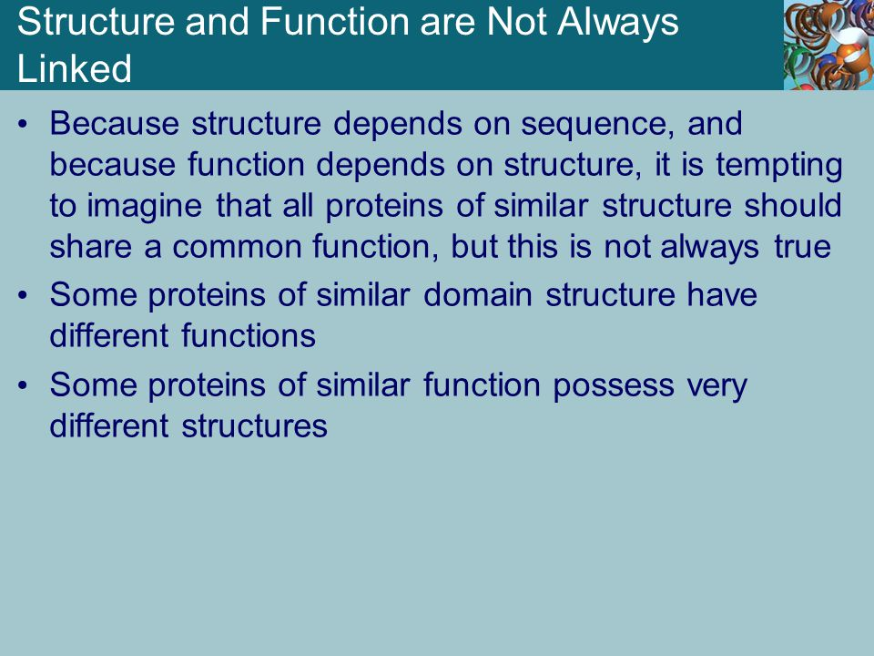 Structure and Function are Not Always Linked