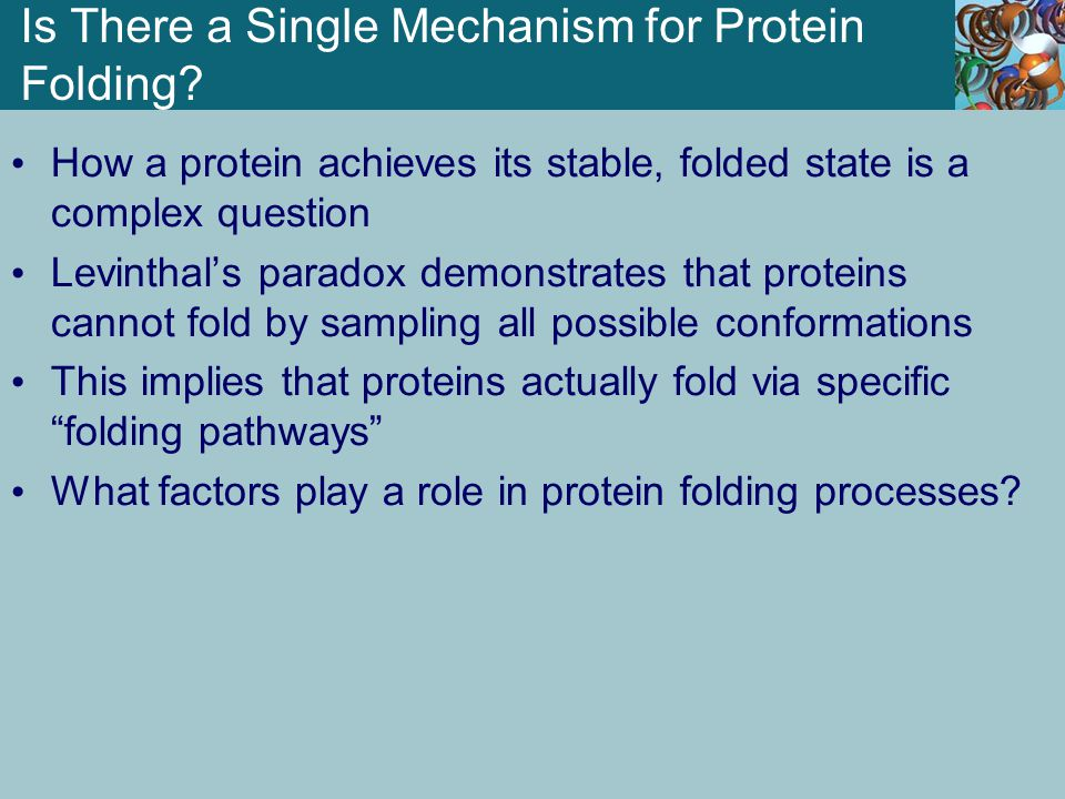 Is There a Single Mechanism for Protein Folding