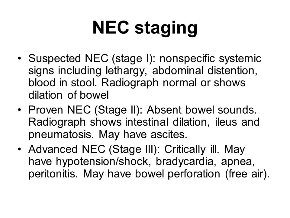 NEC staging