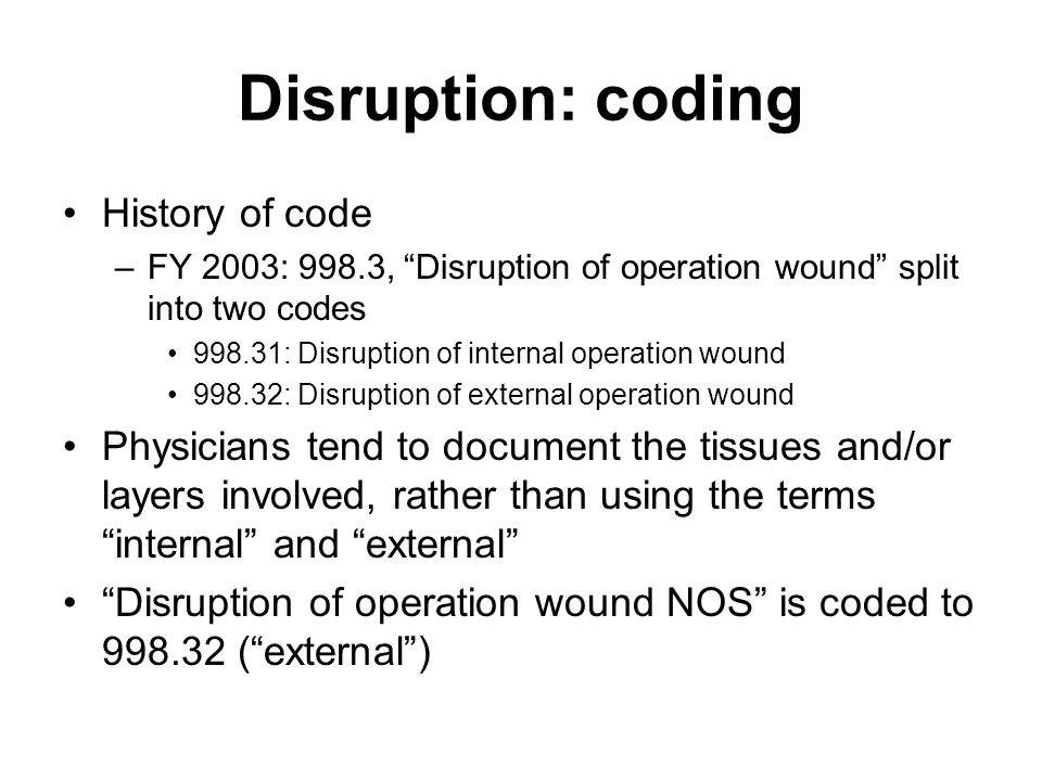 Disruption: coding History of code