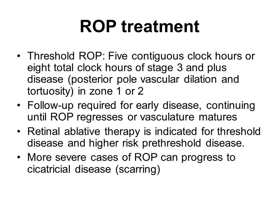 ROP treatment