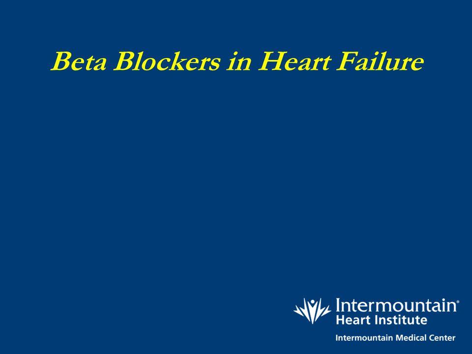 Beta Blockers in Heart Failure