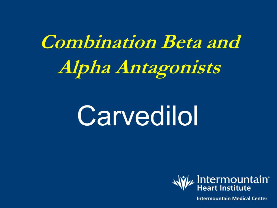 Combination Beta and Alpha Antagonists