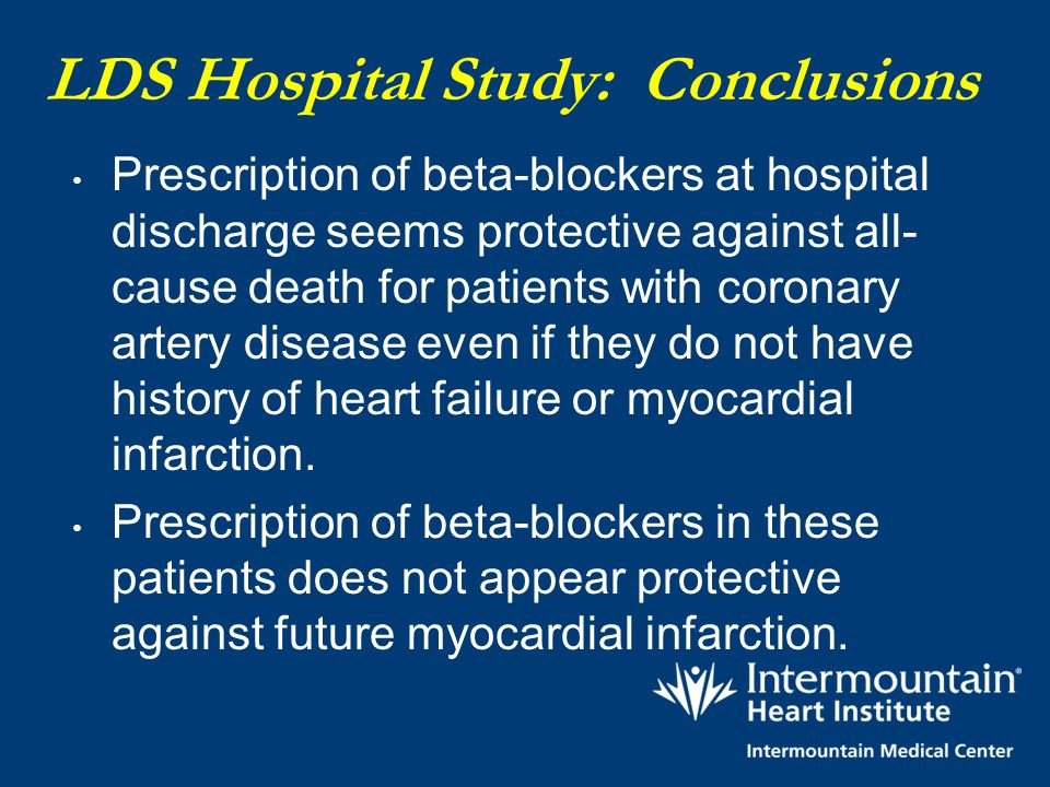 LDS Hospital Study: Conclusions
