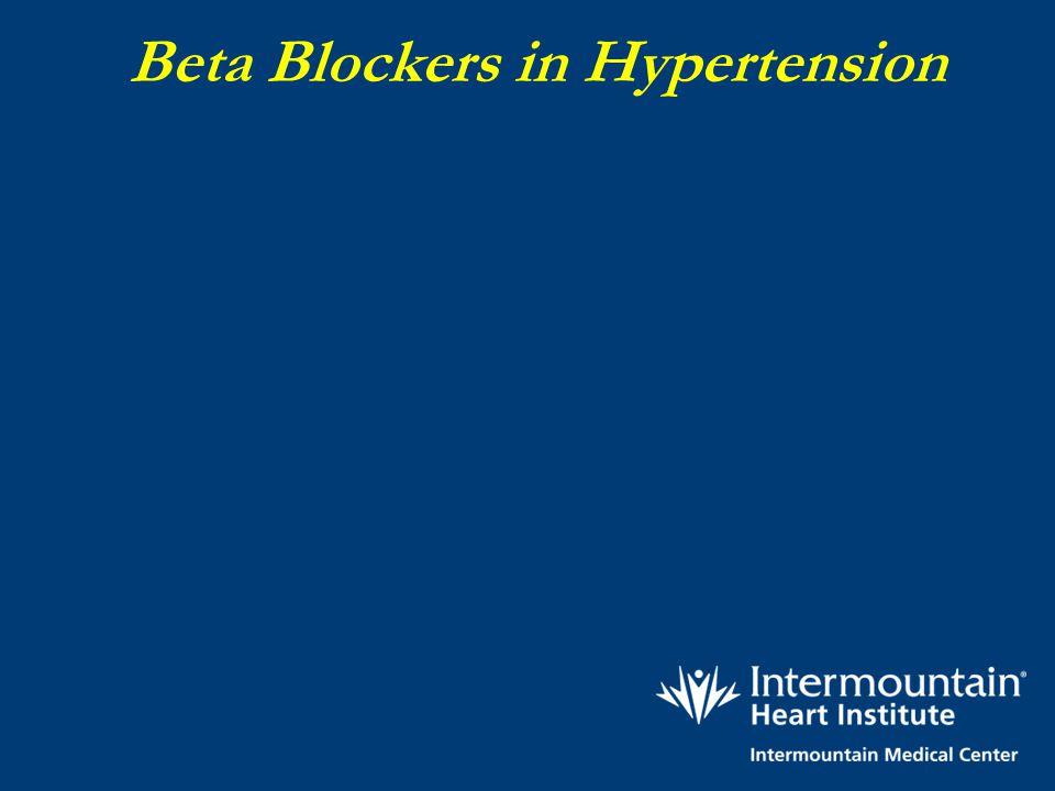 Beta Blockers in Hypertension