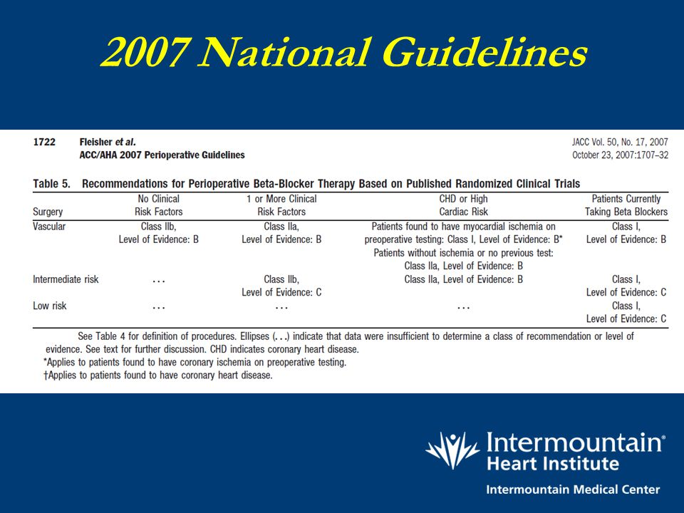 2007 National Guidelines