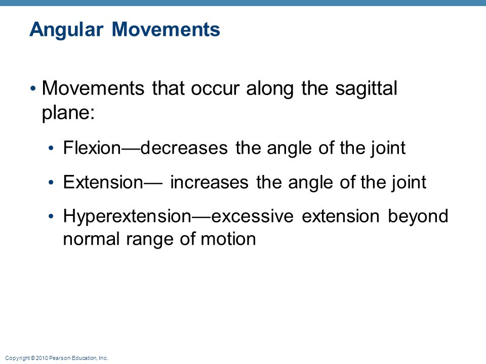 Movements that occur along the sagittal plane: