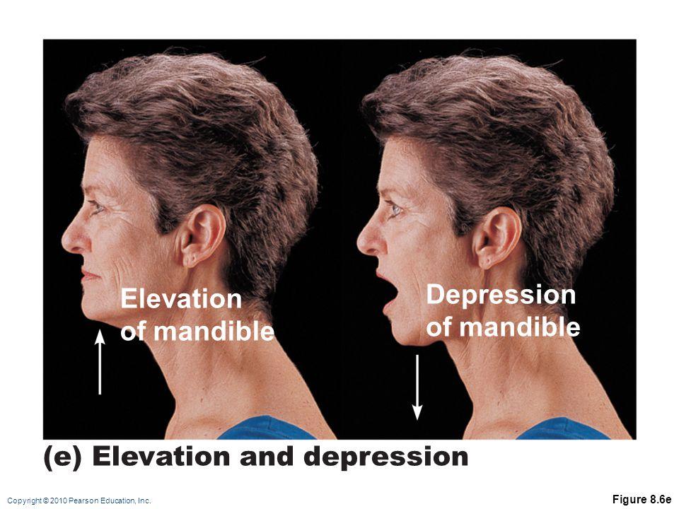 (e) Elevation and depression