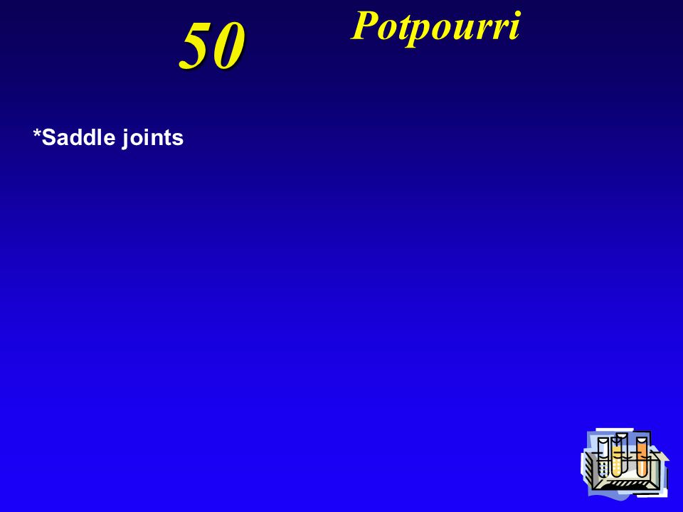 50 Potpourri *Saddle joints