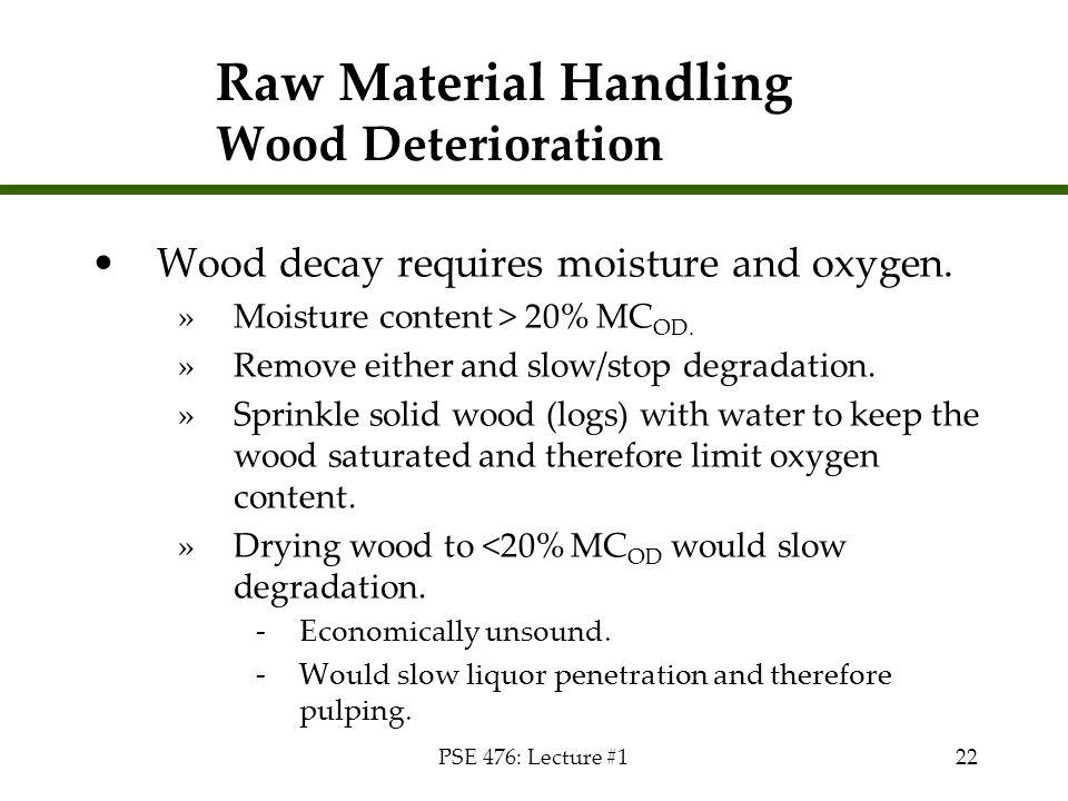 Raw Material Handling Wood Deterioration