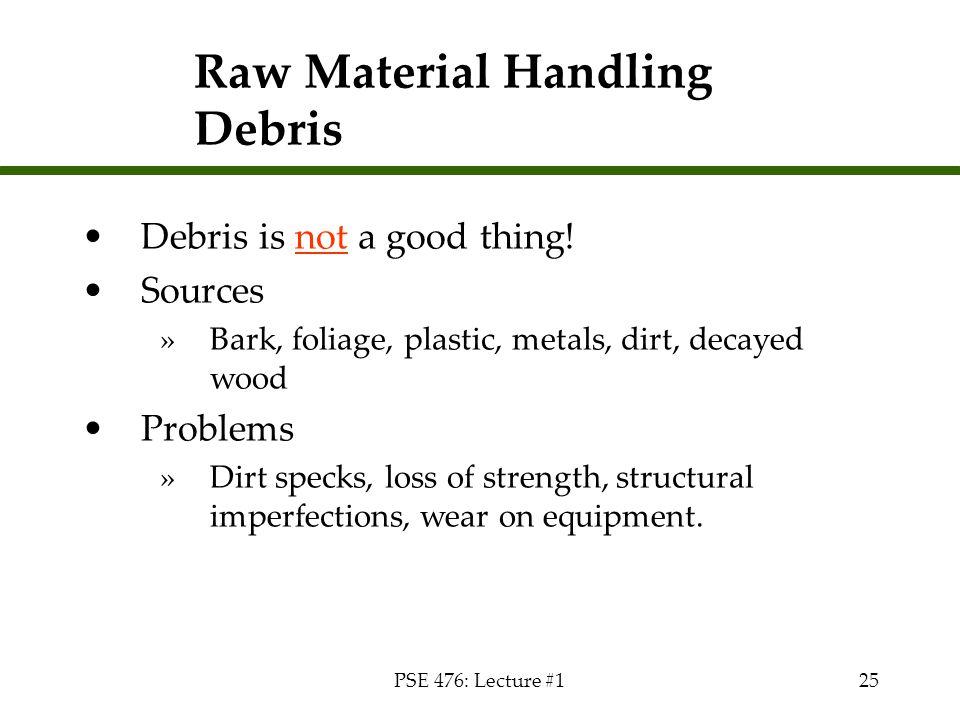 Raw Material Handling Debris
